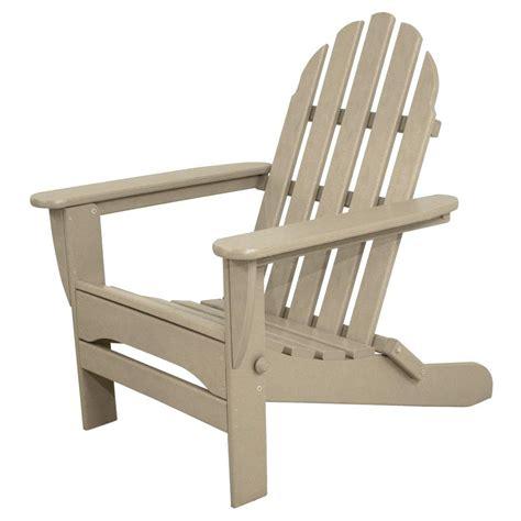 Patio Adirondack Chair Terrace Classics Sand Plastic Patio Adirondack Chair Ivad5030sa The Home Depot
