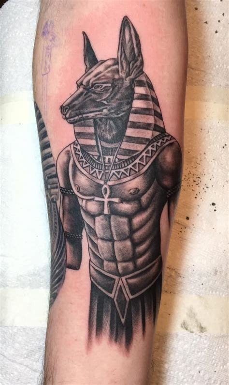 tattoo arm egypt anubis egyptian god tattoo on my inner right forearm