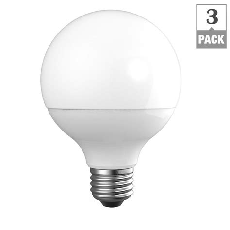 Home Depot Led Light Bulb Ecosmart 60w Equivalent Daylight G25 Dimmable Frosted Led Light Bulb 3 Pk 20 97 Home Depot
