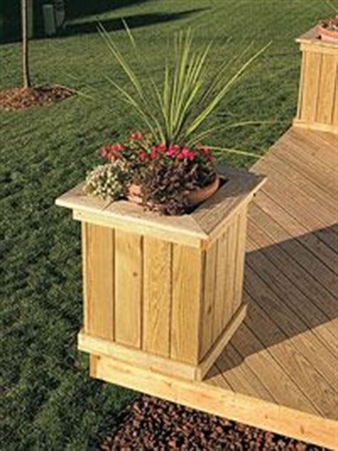 deck planter boxes bench plans free standing deck with planters and benches picture gallery how to design build
