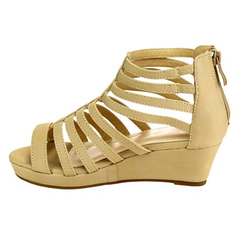 caged wedge sandals lucky top cd78 children s comfort strappy caged