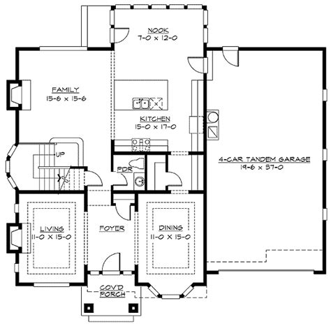 car floor plan plan 2369jd 4 car tandem garage garage plans tandem