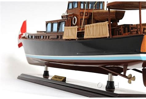 Yacht Dolphin Hand Built Wooden Boat Model