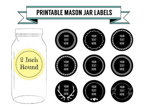 Printable Diy Chalkboard Mason Jar Labels Canning Labels 9 Avery Canning Jar Label Template