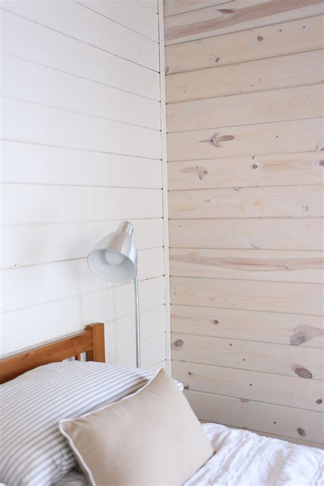 how to whitewash paneling my cottage rose whitewashing white washed horizontal planked pine wall 5 jpg 683 215 1 024