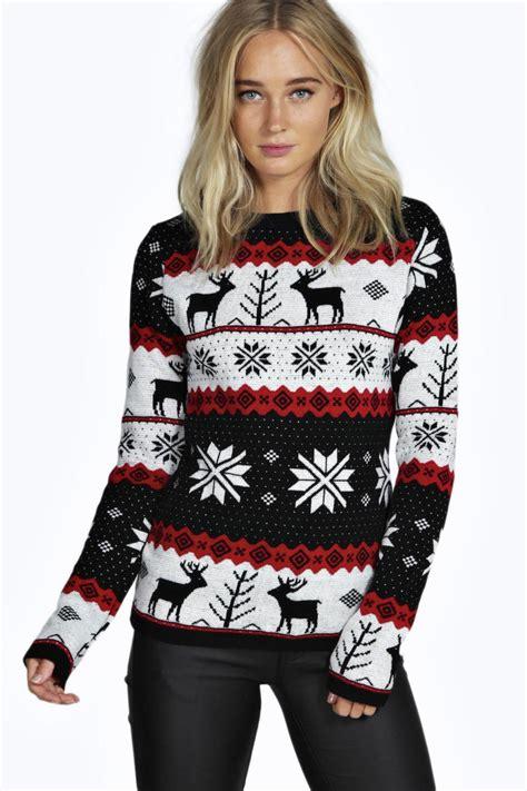 Susan Reindeer Pattern Christmas Jumper | susan reindeer pattern christmas jumper