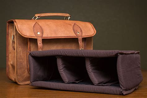 LeftOver Studio Leather DSLR Camera Bag Review   Top