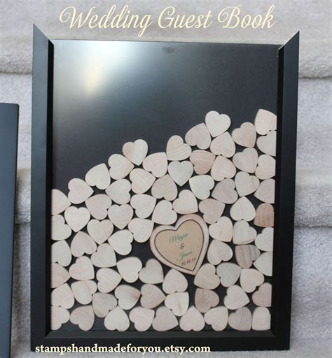 picture frame guest book drop box guest book frame wedding guest by