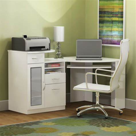 desk with printer drawer