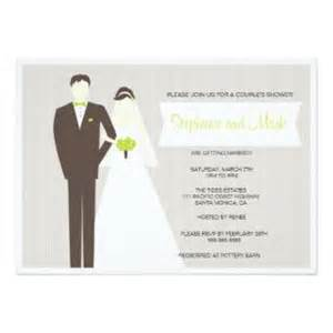Bride and groom couples shower invitation bridal shower invitations