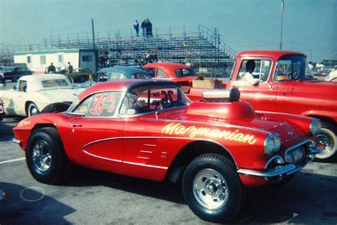 Corvette Drag Racing by Garage Quot Big Quot Mazmanian S 61 Corvette Drag Car