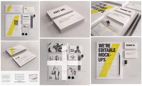 corporate identity template psd corporate stationery psd mockups for branding identity