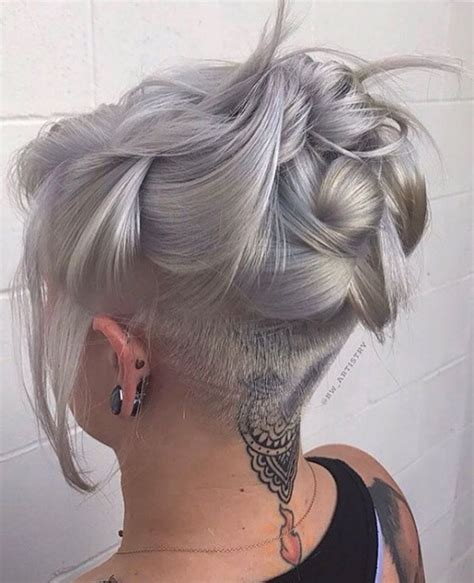 women undercut long undercut long hair female