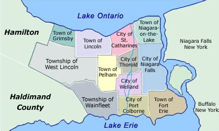 map of niagara region canada home and commercial inspection from fort erie to oakville