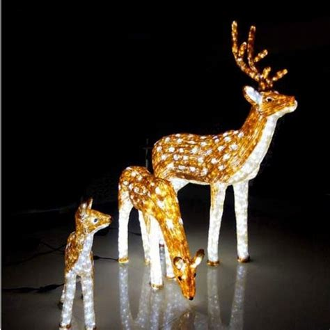 Led Motif Light 3d Outdoor Christmas Reindeer Lights Buy Outdoor Deer With Lights