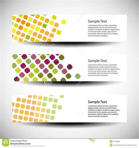 header design kit set of three header designs royalty free stock image