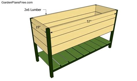 elevated planter box plans raised planter box plans free garden plans how to build garden projects