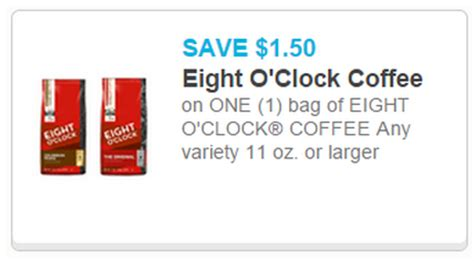 printable eight o clock coffee coupons hot 1 98 eight o clock coffee at walmart