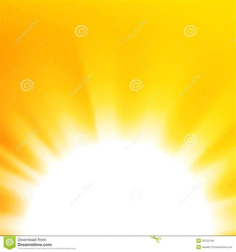 vector abstract background with orange sun royalty free