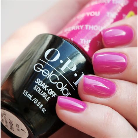 Opi Gel Nail opi gelcolor the berry thought of you opi from