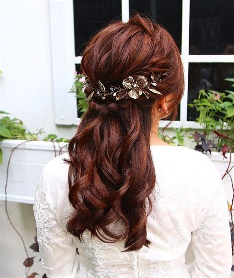 Wedding Hair Half Up With Bangs by Best 25 Partial Updo Ideas On Half Up Half