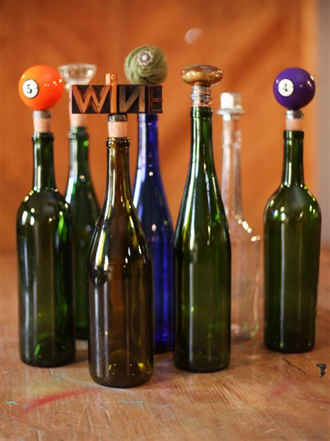 Handmade Wine - found object wine stoppers hgtv