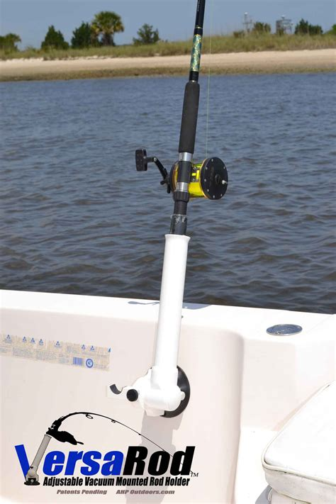 fishing boat rod holders versarod adjustable vacuum mounted fishing rod holder