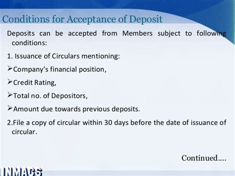 section 73 of companies act ppt deposit and other crucial provisions of the companies