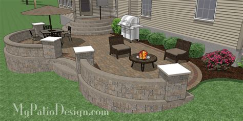 patio design for sloping backyard in west chester oh