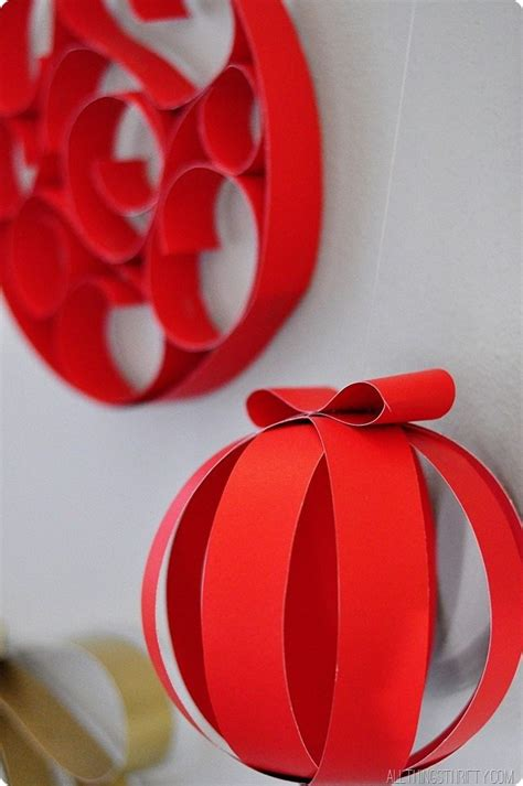 How To Make Ornaments With Paper - all things thrifty decorations 2013