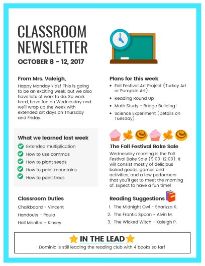 Fall Newsletter Template Gecce Tackletarts Co Montessori Newsletter Templates