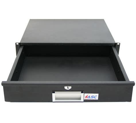 locking drawer 19 quot equipment rack 2u pro audio dj or