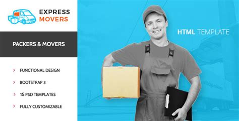 Express Movers Moving Company Html Template By Premiumlayers Themeforest Packers And Movers Html Templates