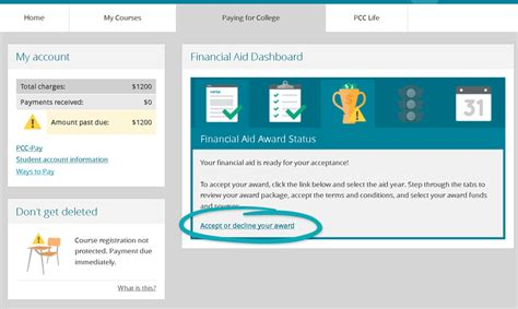 does patten university accept financial aid accepting your award step by step pcc
