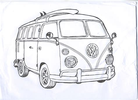 volkswagen van drawing pin by igor da silveira on surf cars pinterest vw