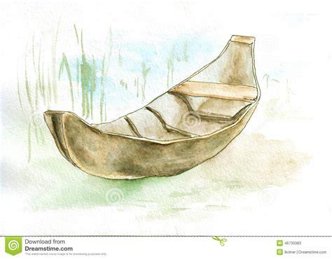 canoes drawing canoe stock illustration image 46730383