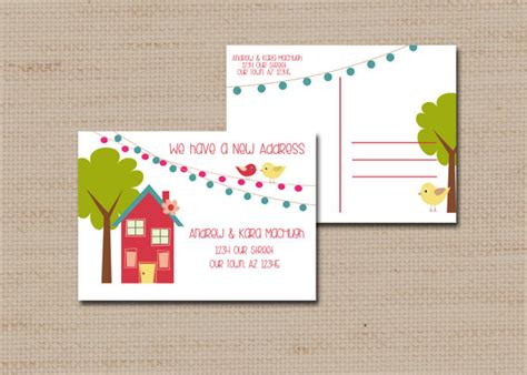 Printable Change Of Address Cards
