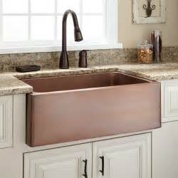 Bronze Kitchen Faucets by 30 Quot Kembla Copper Farmhouse Sink