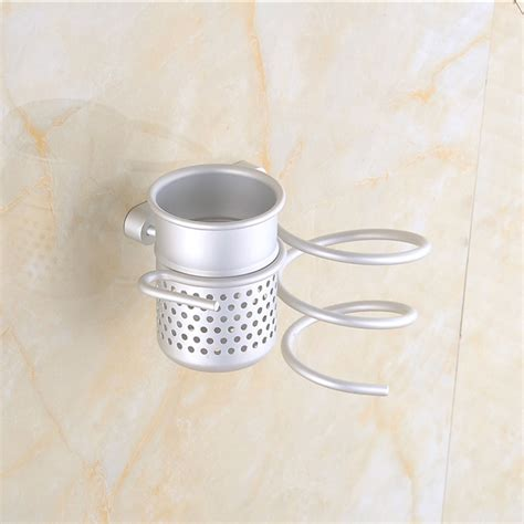 Garbage Bag Hair Dryer excellent quality aluminum wall mounted mounted hair dryer drier comb இ holder holder rack