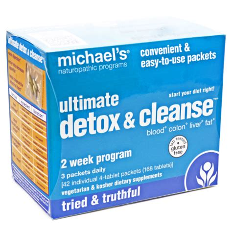 Michael Naturopathic Programs Ultimate Detox Cleanse 2 Week Program by Ultimate Detox And Cleanse 1 Kit 29 62ea From Michael S