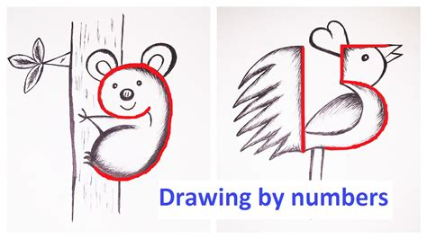 Drawing Numbers by Drawing By Numbers