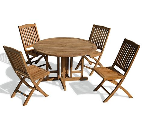 Berrington Round Garden Gateleg Table And Chairs Set Gateleg Patio Table