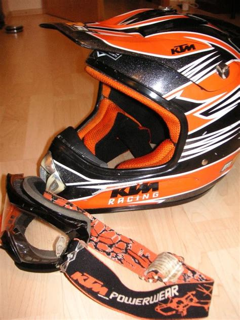 Helm Cross Ktm Ktm Crosshelm Mit Ktm Powerwear Brille In M 252 Hldorf