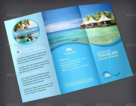 Carribean Ransel 06hp745 Set 3in1 43 amazing travel brochure template