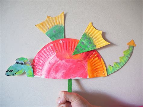 And Craft With Paper - learn with play at home simple paper plate craft