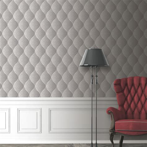 grey quilted wallpaper muriva damask padded effect wallpaper light grey