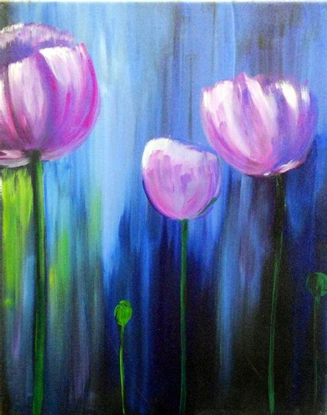 acrylic paint best simple acrylic paintings of flowers www pixshark