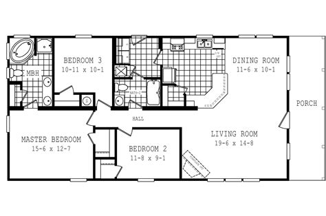 schult floor plans manufactured home floor plan 2006 schult 1722 58cla28593ah06
