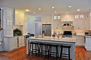 Painted Chandeliers Elegant White Kitchen Transitional Kitchen New York