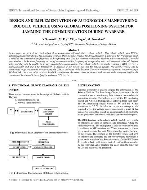vehicle design journal articles design and implementation of autonomous maneuvering